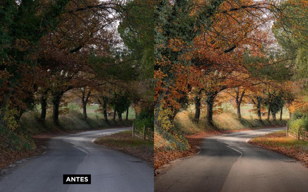 edição de fotos - antes e depois